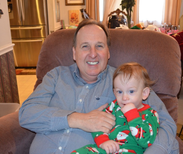 Papa and August.