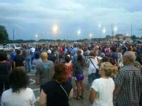 I was honored to help lead prayer for the community after losing Sgt. Hutch.